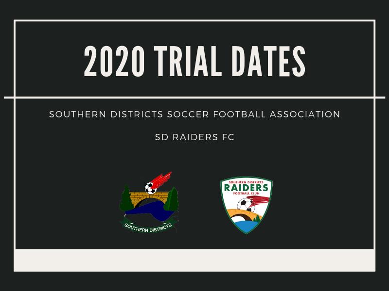 2020 Trial Dates