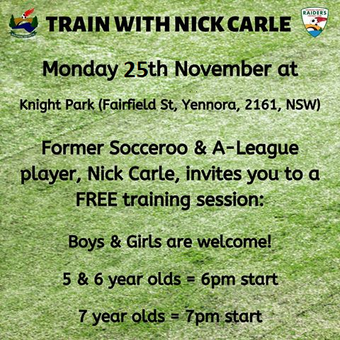 Train with Nick Carle