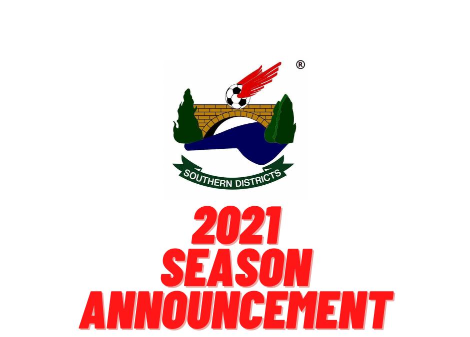 IMPORTANT 2021 SEASON ANNOUNCEMENT.
